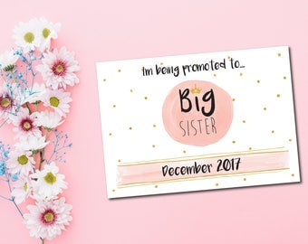 New baby annoucement - I'm going to be a big sister! A4 card print