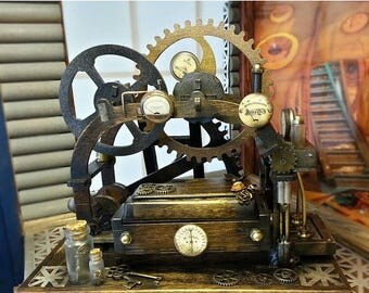 ON SALE NOW Steampunk-themed, Kinetic, Mechanical Ring Box