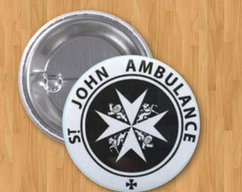 ON SALE NOW St. John Ambulance Pinback Button