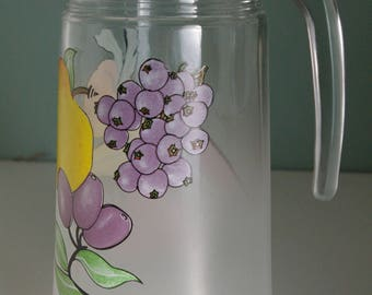 Vintage Frosted Fruit Pitcher