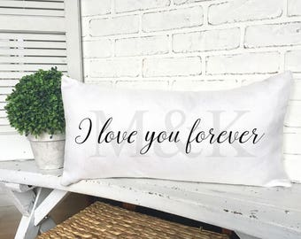 PERSONALIZED COUPLE PILLOW,Wedding Pillow, Wedding Gift, Faux Burlap Pillow,Valentines Pillow,Wedding Anniversary Gift