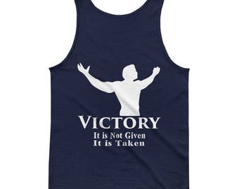 Men's Tank top - Victory not Given - White letters