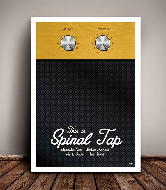 This Is Spinal Tap // This One Goes To Eleven // Minimalist Movie Poster // Unique A4 / A3 Art Print
