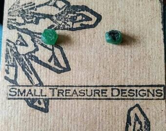 Sterling Silver Emerald Earrings