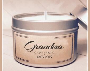 Grandma Candle Gift - New Grandma Gift   Mom Gift   Grandma Gift   Send a Gift   Personalized Grandma Gift   New Mama Gift   New Baby gift