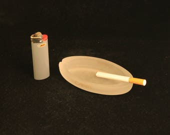 Vintage CAPRI Cigarette Ashtray Frosted Glass
