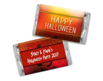 Personalized Halloween Chocolate Wrappers -  Halloween Hershey Miniature Wrappers - Personalized Halloween Nugget Wrappers