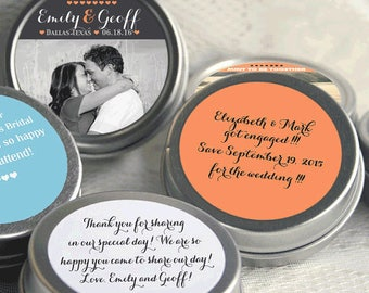 12 Mint to Be Picture Photo Wedding Mint Tins - Wedding Mint Tins - Mint to Be - Tin Mints - Personalized Mints - Wedding Decor