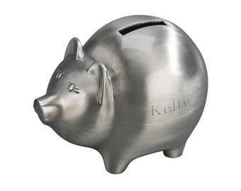 Piggy Bank - Personalized Piggy Bank - Ring Bearer Gift - Little Boys Gift - Coin Bank - Keepsake Gift - Brushed Matte