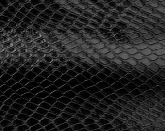 Snakeskin Fabric: Black