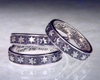 Many Starrs Sterling Silver Poesy Ring - 16th or 17th c. Old English