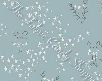 Little Town by Art Gallery - Starbright Fog - Cotton/Spandex Knit