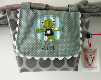 Handlebar bag with your name frog bicycle bag