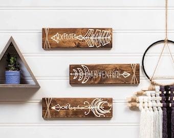 Adventure Sign * Arrows * Explore * Dream * wood decor * kids room * wall art * wall decor