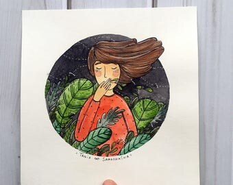 Feel the Summer - original watercolor art