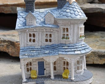 Turret Farm House for Miniature Garden, Fairy Garden