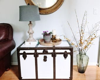 Vintage Trunk Table - Side Table - Nightstand