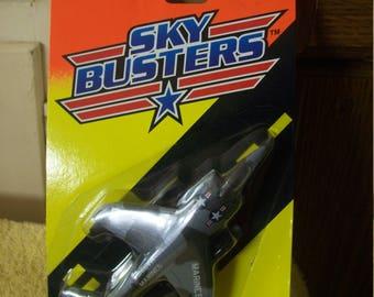 Vintage 1994 Matchbox Die Cast Sky Busters  Marine Harrier Plane