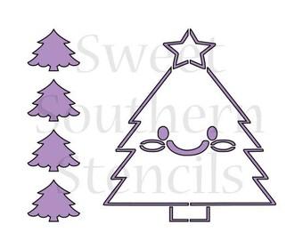 Christmas Tree PYO Cookie Stencil