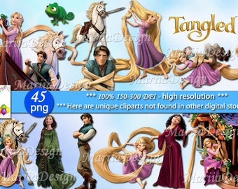45 Tangled Clipart - 45 PNG - 300 Dpi, Tangled png, Tangled clip art, Tangled transparent, Tangled Instant download  - ONLY FILES