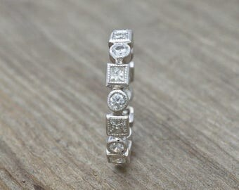 ON SALE Diamonds and 14KT White Gold Eternity Ring 1.76tw