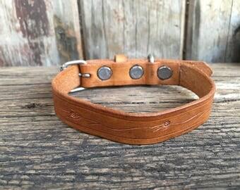 Mini Leather Collars Handmade
