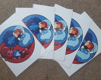 Ruby and Sapphire prints