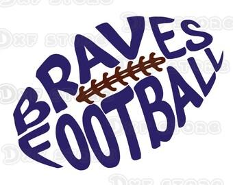 Football svg,football dxf,football silhouette, Brave ,Braves, Braves svg, Braves dxf, Braves logo,