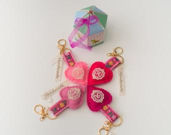 Pink Vintage keychains