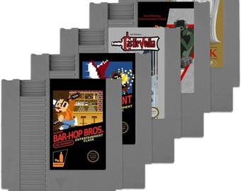 nintendo classic game concealable FLASK by ink whiskey (not a video game)