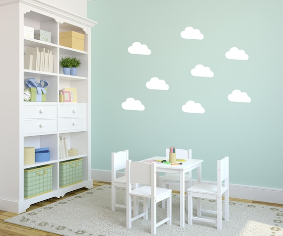 42 X Cloud Interior Vinyl Wall Stickers / Wall Decoration / Images