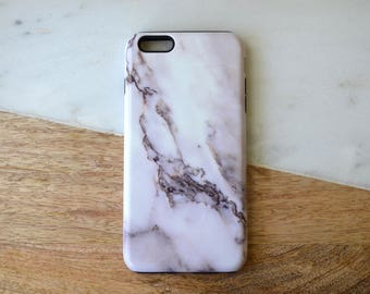READY TO SHIP** iPhone 6+ Tough Phone Case White Marble