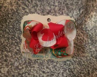 Santa Stacked Bow