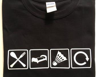 Kids Eat, Sleep, Play Badminton T-shirt