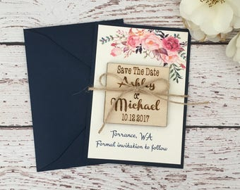 25 save the date magnets, wooden save the date, save the date cards, floral save the date, boho save the date, rustic boho save the date