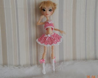 "AmiGaTa BJD Nothing Sapiens Outfit ""Pink summer"" for dolls."