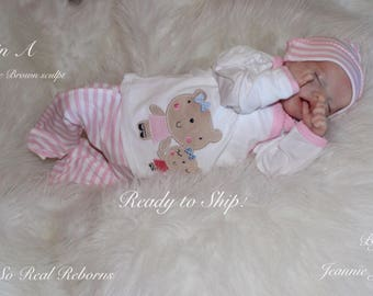 Reborn baby, Twin A , Bonnie Brown sculpt, COA , ready to ship