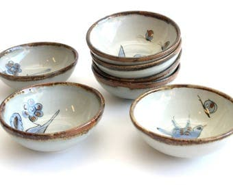 Hand Painted Bowls, Small Serving Dishes, Made in Mexico