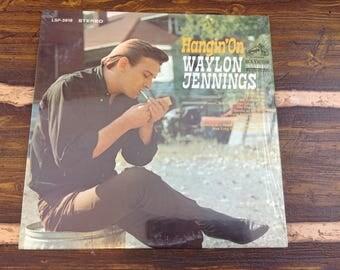 Hangin' On Waylon Jennings Vintage Vinyl Record LP 1968