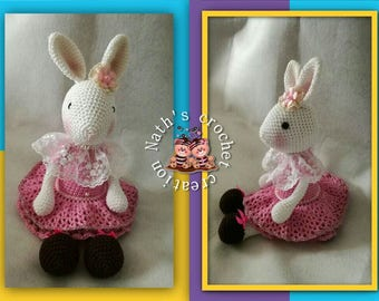 All crochet and lace pattern of Francis Sinke rabbits