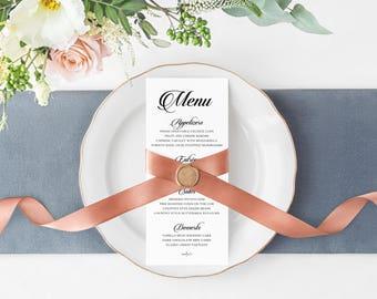 Wedding Menu, Wedding Dinner Menu, Reception Menu, Wedding Reception Menu, Dinner Menu, Lilyana Suite Menu