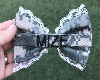 Military Army ACU Laced Nametape Bow