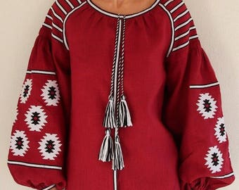 ukrainian embroidered boho blouse vyshyvanka bohemian ethnic shirt boho chic