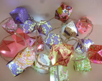 Bright Garland 20 leds multicolored Japanese paper origami