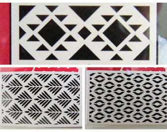 Pochoir Artemio Home Deco décor Motifs géométriques au choix planche 10x15cm