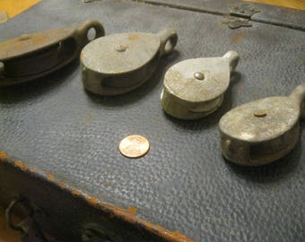 Boat Pulleys , Nautical Decor ,Galvanized Pulleys , Rope Pulleys , Pulleys