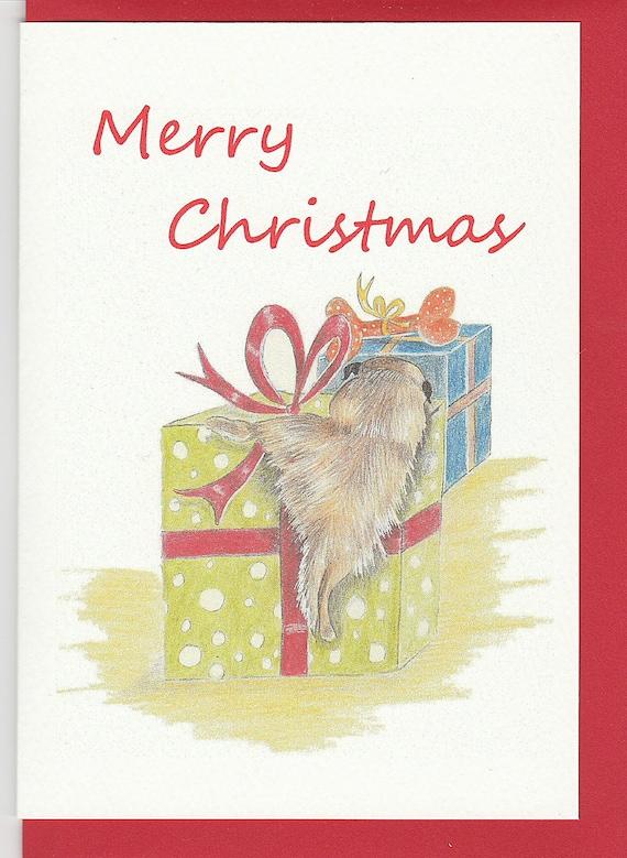 funny christmas card border terrier christmas card border
