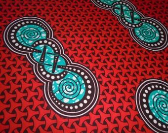 Julius Holland African Wax Print Fabric by the Half Yard