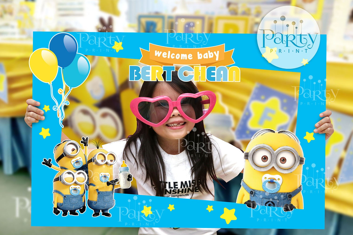 Print it yourself digital copy minions inspired baby shower diy print it yourself digital copy minions inspired baby shower diy photo frame solutioingenieria Gallery