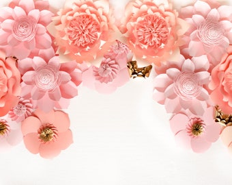 Paper Flower Backdrop, Wedding Backdrop, Giant Paper Flowers